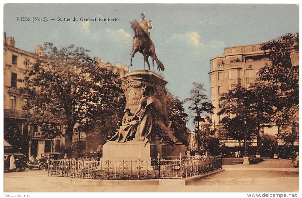 Lille, Statue Du General Faidherbe CPA 70 - Lille