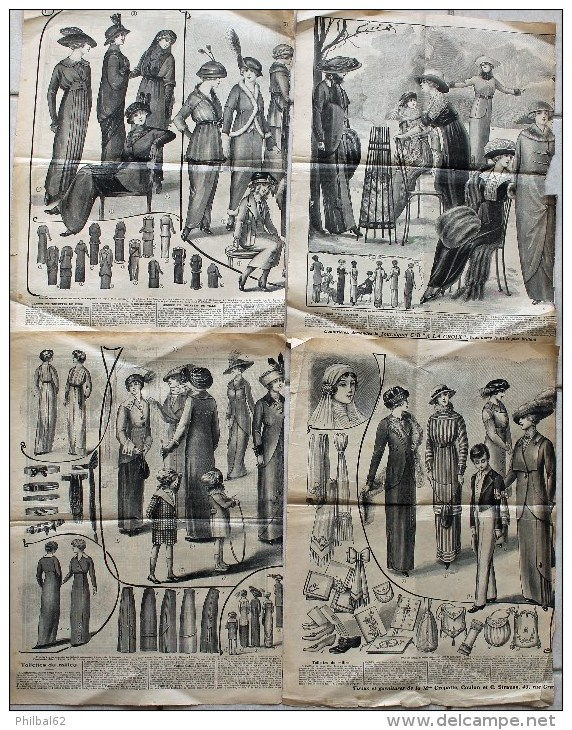 4 Pages Du Petit Echo De La Mode. Toilettes De Ville, De Deuil, Robe De Communiante Et Accessoires. - Magazines