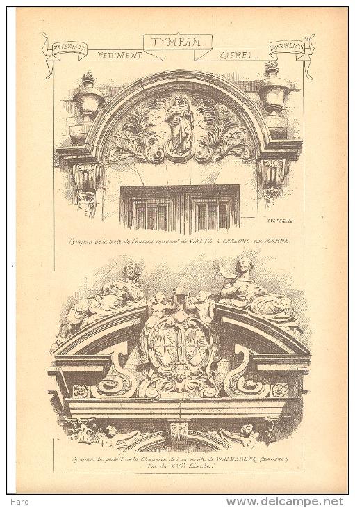 Architecture - Sculpture -  Tympan  - Vezelay - Aubazine - Chalons Sur Marne - Wuerzburg (b26) - Autres