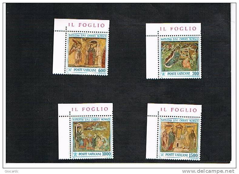 VATICANO - UNIF.949.952 - 1992 NATALE: MOSAICI DEL XIII SECOLO IN SANTA MARIA MAGGIORE, ROMA   -  NUOVI  (MINT)** - Vaticano (Ciudad Del)