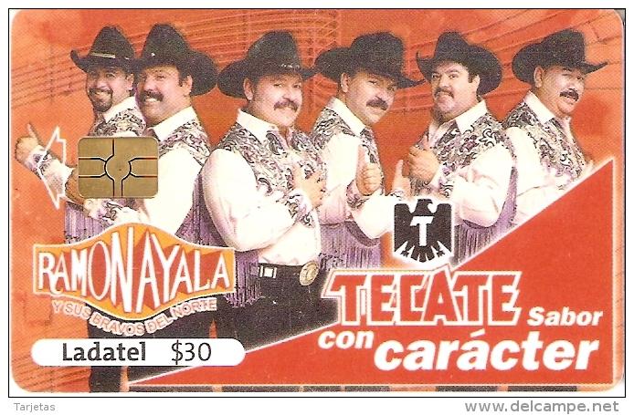 TARJETA DE MEXICO DE CERVEZA TECATE (BEER) GRUPO MUSICAL RAMON AYALA - Publicidad