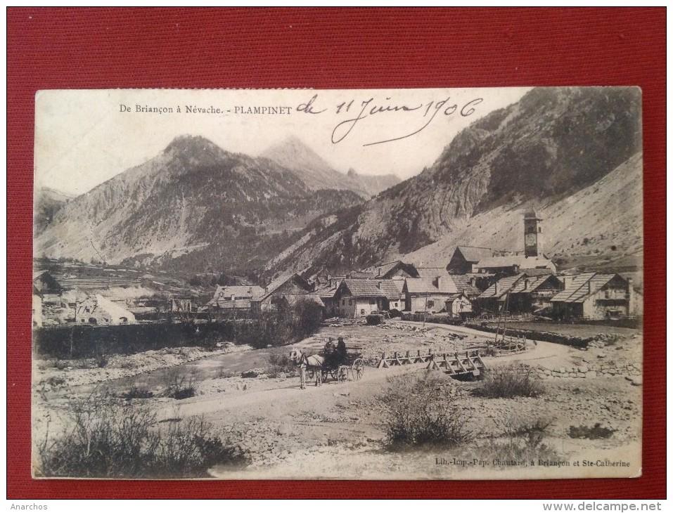 05 Hautes Alpes  PLAMPINET De Briancon à Nevache - Attelage + Cachet  Val Des Prés - Francia