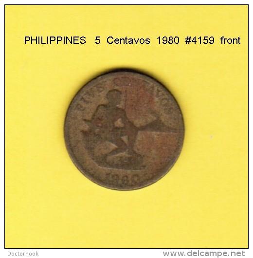 PHILIPPINES   5  CENTAVOS  1980  (KM # 187) - Philippines