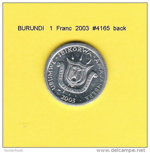 BURUNDI   1  FRANC  2003 - Burundi