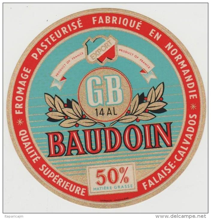 étiquette De Fromage:  Camembert  :   Le  Baudoin  De  Falaise - Formaggio