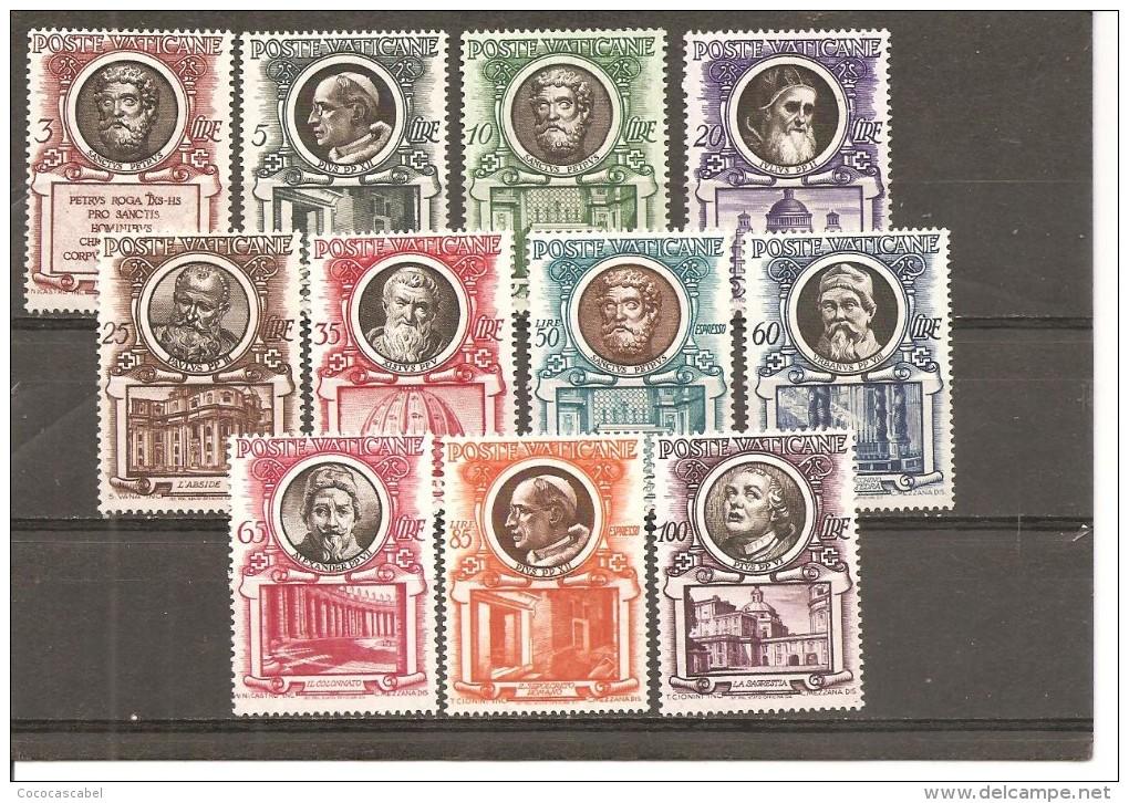Vaticano Yvert 176-86 (MH/(*)) (sin Goma) - Vaticano (Ciudad Del)