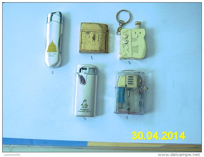 LOT DE 5 BRIQUETS ( Voir Détail) - Lighters