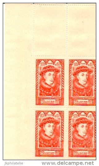 Bloc 4 Timbres  N°770 Célébrités Du XV Siècle Charles VII - France