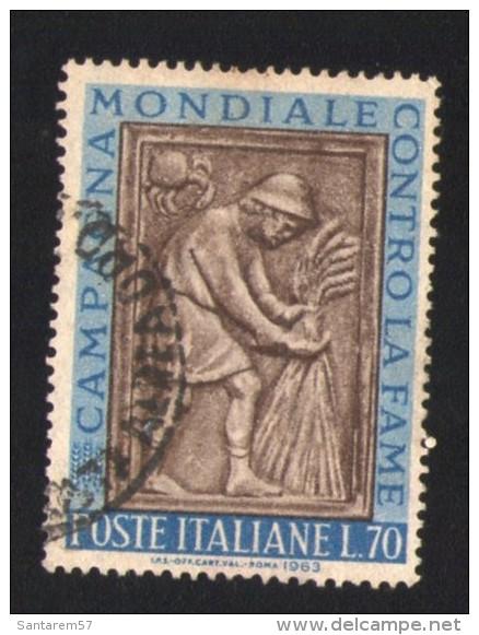 Italie 1963 Oblitéré Rond Used Stamp Bas-relief Récolte Campagne Contre La Faim - 1946-.. République