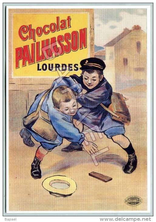 Affiche Sur Carte Postale - Chocolat Pailhasson (Lourdes 1900) (1) - Publicité