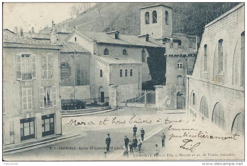 38 - GRENOBLE - Isère - Eglise Saint-Laurent - Grenoble