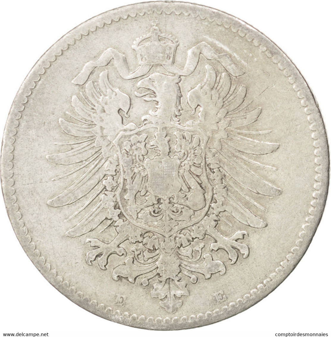 Allemagne, Empire, Guillaume Ier, 1 Mark, 1881 E, KM 7 - [ 2] 1871-1918: Deutsches Kaiserreich