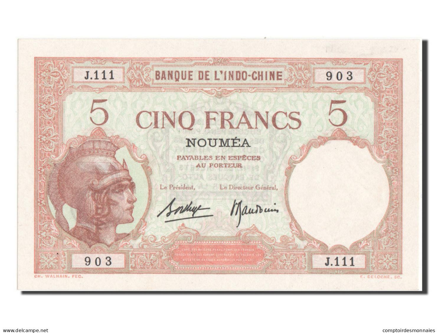 [#81756] Nouvelle Calédonie, Nouméa, 5 Francs Type 1926-29 - Nouvelle-Calédonie 1873-1985