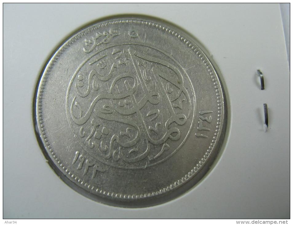 EGYPT 5 PIASTRES 1923 SILVER COIN NICE GRADE LOT 20 NUM 4 - Egypte