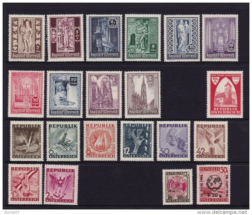 Mi 776-783, 771, 784, 790 & 791 - 800 - 1945-60 Unused Stamps
