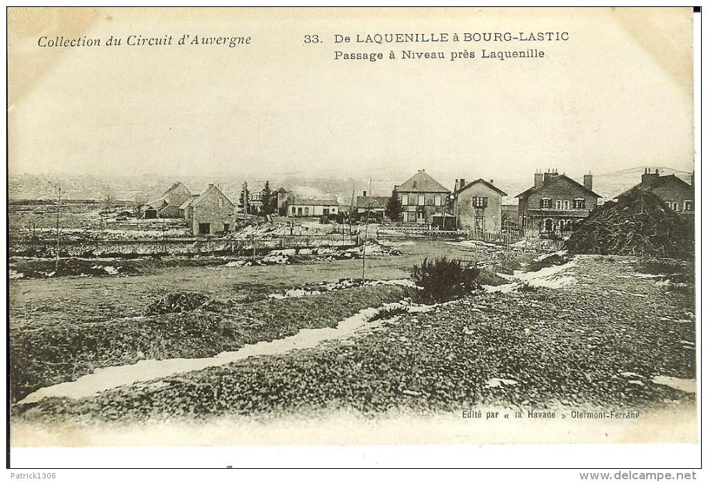 CPA Circuit D´Auvergne, De Laquenille à Bourg Lastic, Passage à Niveau Prés Laquenille  9826 - Unclassified