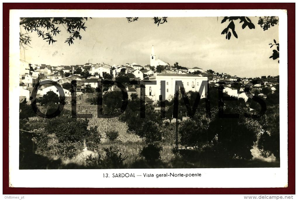 SARDOAL - VISTA GERAL - NORTE - POENTE - 1950 REAL PHOTO PC - Santarem