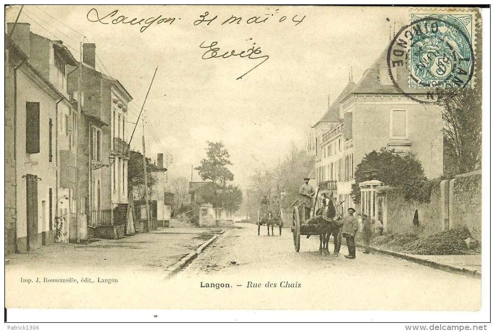 CPA - LANGON - Rue Des Chais - 9678 - Langon