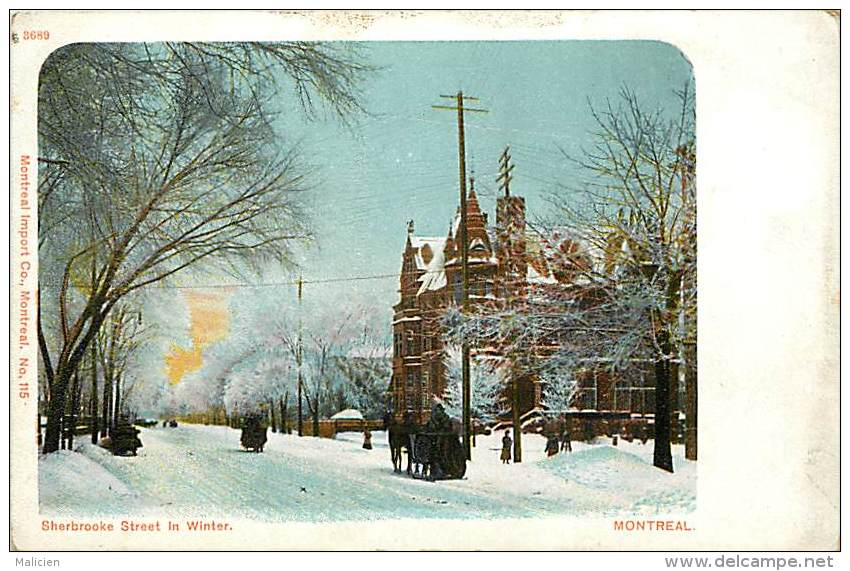 Pays Div- Canada -ref B918- Sherbrooke Street In Winter - Montreal -carte Bon Etat  - - Canada