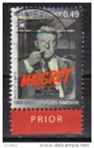 0,49 Euro Maigret Uit 2003, Prior Onder - Belgium