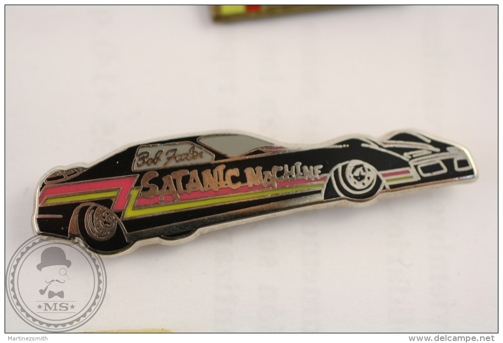 Drag Racing Satanic Machine - Bob Feeler - Pin Badge   - #PLS - Pin