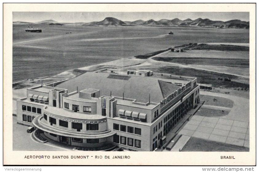 ! Unused Postcard Aeroporto, Airport, Flughafen, Rio De Janeiro, Santos Dumont, Brasil, Brazil, Brasilien - Aerodrome