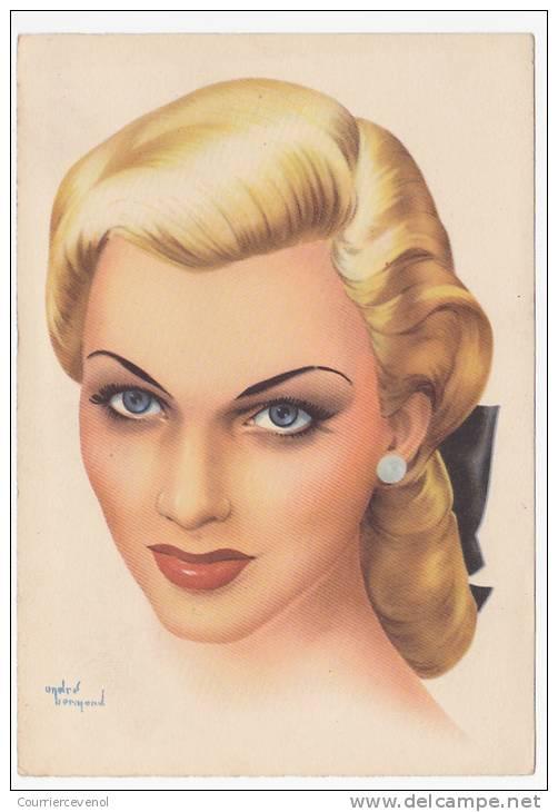 CPSM - Illustrateur <b>André BERMOND</b> - Portrait de femme - Pin-up [3 EUR] - 313_001