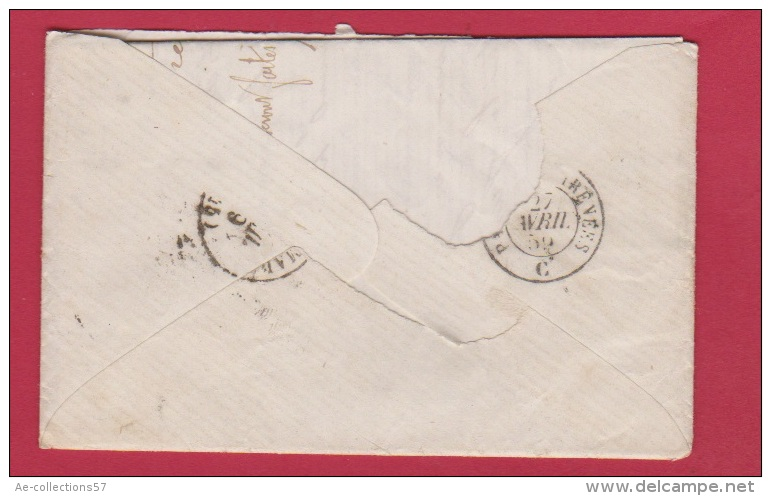 Lettre // De Paris // Pour Port Sainte Marie  //  27 Avril 1862 - Marcophilie (Lettres)