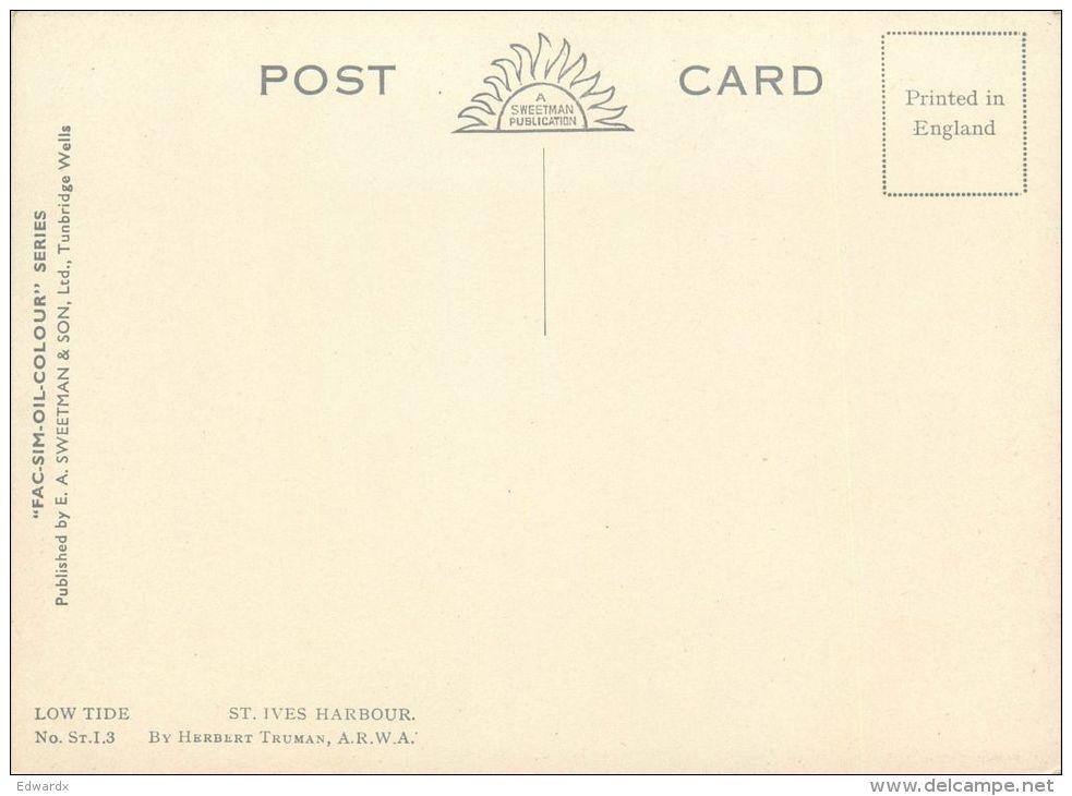 Low Tide, Herbert Truman, St Ives, Cornwall, England Postcard Sweetman Fac-sim-oil-colour #1 - St.Ives