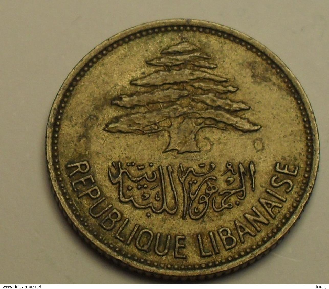 1961 - Liban - Lebanon - 25 PIASTRES - KM 16.2 - Liban