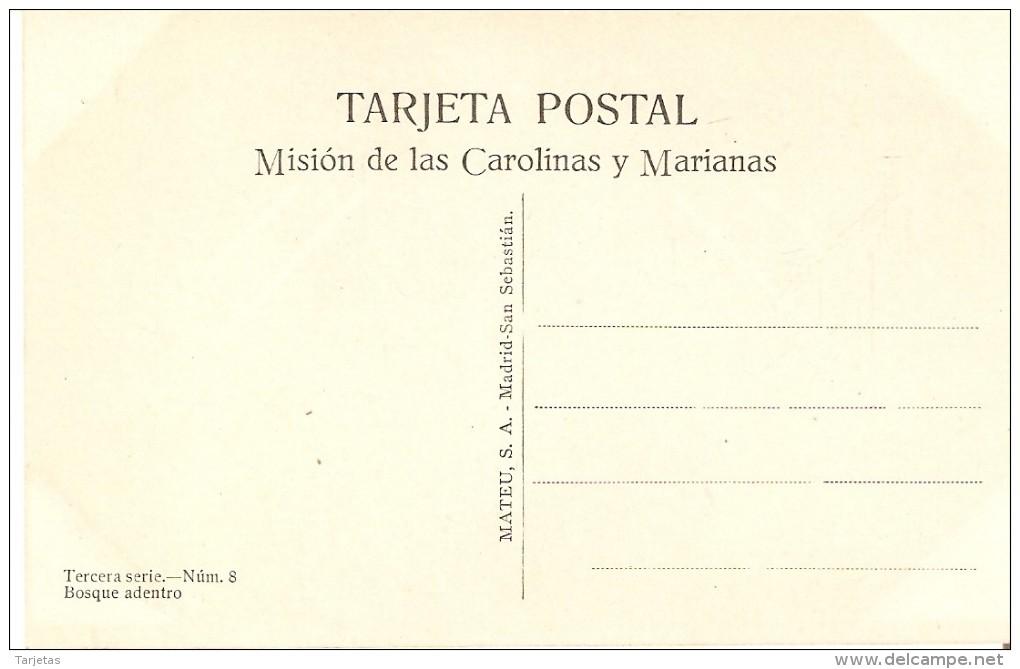 POSTAL DE LAS CAROLINAS Y MARIANAS DE BOSQUE ADENTRO (MISION-MISIONES) (MATEU.S.A) - Marianen