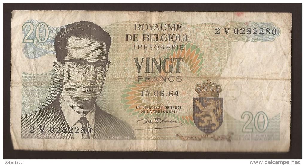 België Belgique Belgium 15 06 1964 20 Francs Atomium Baudouin. 2 V 0282280 - [ 6] Treasury