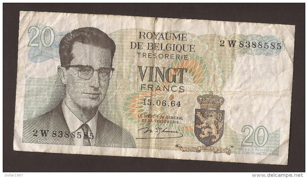 België Belgique Belgium 15 06 1964 20 Francs Atomium Baudouin. 2 W 8388585 - 20 Francs