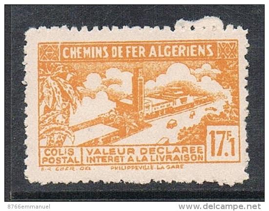 ALGERIE COLIS POSTAL N°117 N**  Variété Sans Surcharge - Algérie (1924-1962)