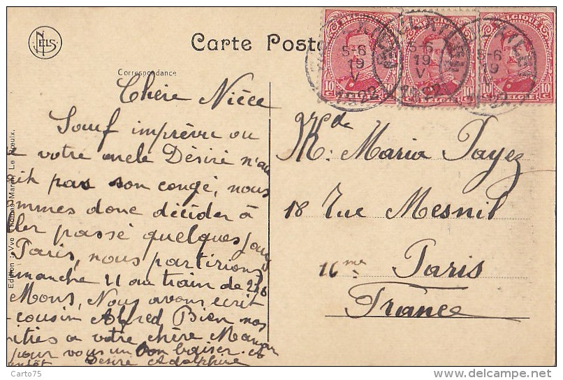 Belgique - Le Roeulx - Grand Place / Cachet 1922 - Soignies