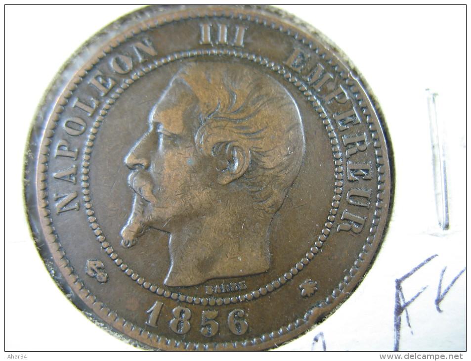 FRANCE 10 CENTIMES 1856 BB LOT 24 NUM 16 - D. 10 Centimes