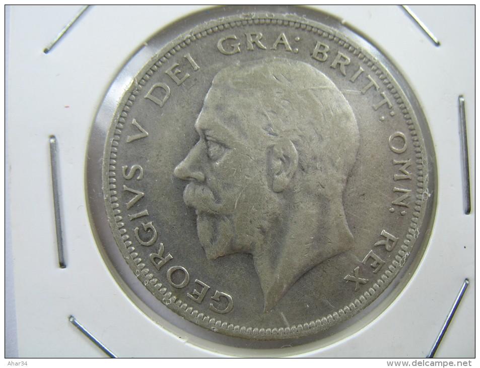 UK GREAT BRITAIN ENGLAND 1/2 HALF CROWN  1929 SILVER 500 LOT 26 NUM 3 - 1902-1971 : Monnaies Post-Victoriennes