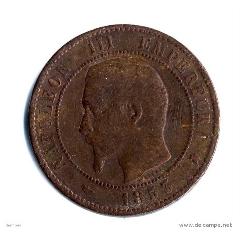 PIECE DE 10 CENTIMES NAPOLEON III  ANNEE 1853 K   ETAT  B - Francia