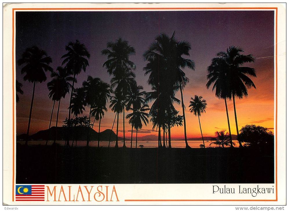 Pulau Langkawi, Malaysia Postcard Used Posted To UK 1995 Stamp - Malaysia