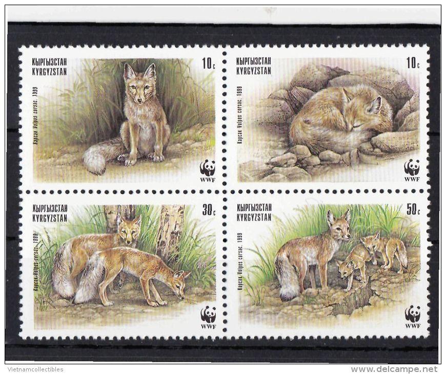 (WWF-254) W.W.F. Kyrgyzstan / Corsac Fox MNH Stamps 1999 - W.W.F.
