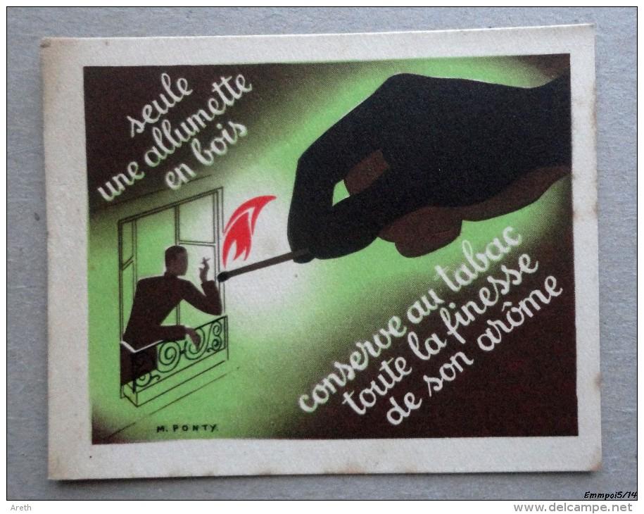 Image Chromo Publicite : Allumette En Bois - Illustrateur M. Ponty - Chromos