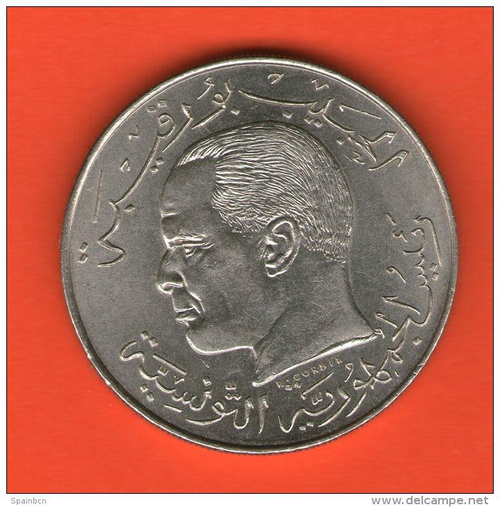 ** 1/2 Dinar 1968  ** - KM 291 - Ni  12gr. 29mm - TUNISIA / TUNESIA / TUNESIEN - Túnez