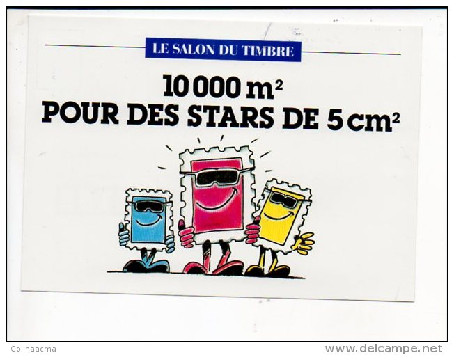 1994 - Vignette Du Salon Du Timbre Au Parc Floral De Paris Du 15 Au 24 Octobre Sur Carte Postale Du Salon - Expositions Philatéliques