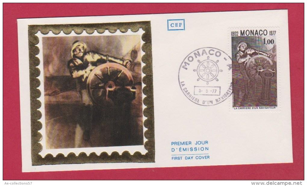 MONACO  // PREMIER JOUR  //  ENV  //    //   3/5/1977 - FDC