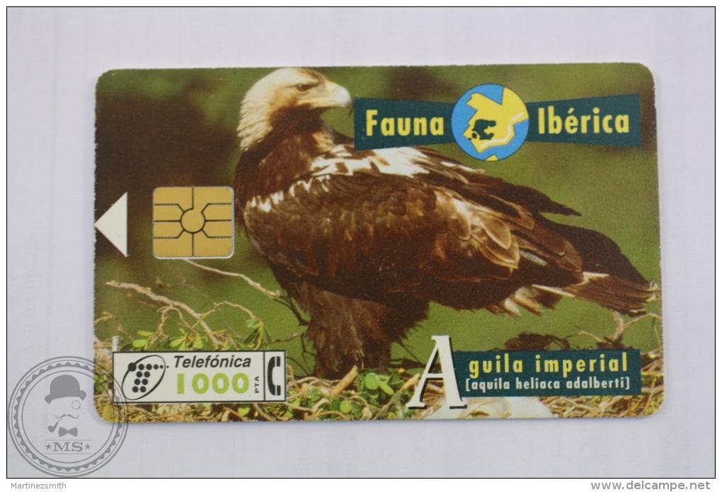 Spanish Collectible  Phone Card: Fauna Iberica - Aguila Imperial (Aquila Heliaca Adalberti)/ Spanish Imperial Eagle - Eagles & Birds Of Prey