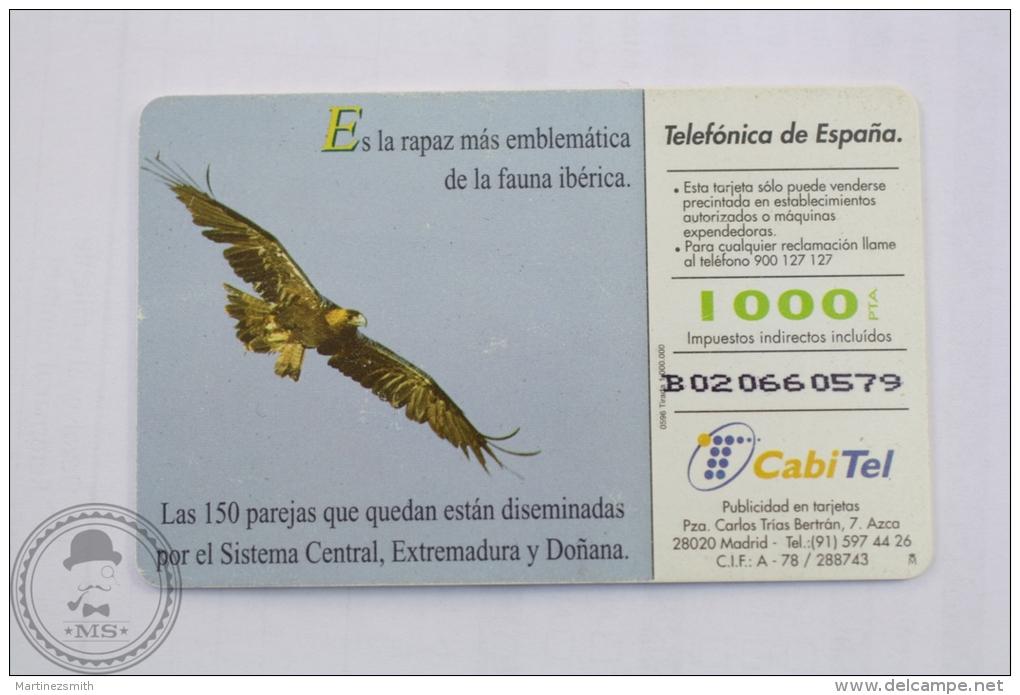 Spanish Collectible  Phone Card: Fauna Iberica - Aguila Imperial (Aquila Heliaca Adalberti)/ Spanish Imperial Eagle - Aquile & Rapaci Diurni