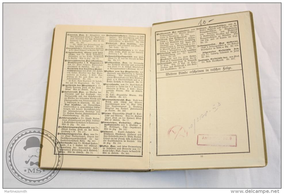 1908 German Book: Sammlung Göschen -Italienische Literaturgeschichte/ Italian Literature, History  Prof. Dr. Karl Dobler - Livres, BD, Revues