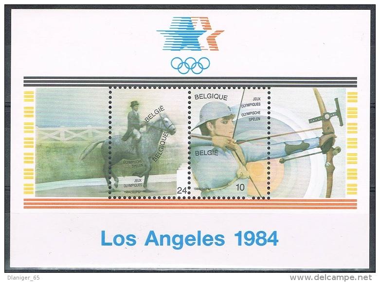 Année 1984  -  COB BL60**  (2121 à 2122)  -  JO De 1984 à Los Angeles-  Cote  2,25€ - Libretti 1962-....