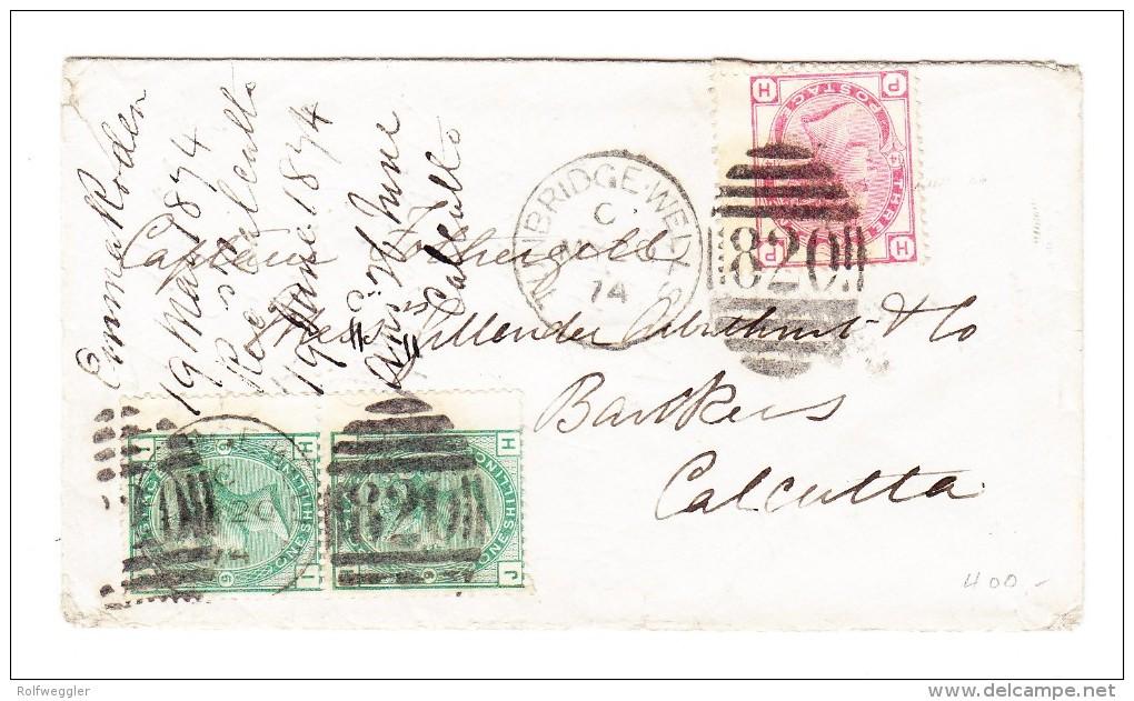 Brief 1874 Tunbridge-Wells Nach Calcutta Indien - 1840-1901 (Victoria)