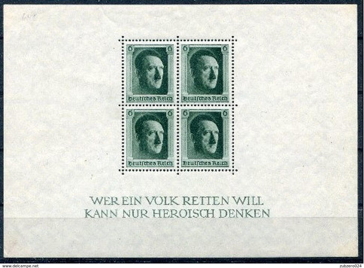 D. Reich Michel-Nr. Block 7 Postfrisch - Blocks & Kleinbögen